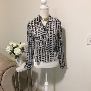Apostrophe longsleeve  blouse size 8